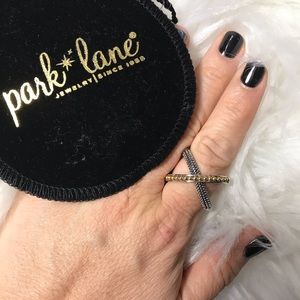 Park Lane Accessories - Park Lane Crossover Ring silver and Gold tone